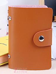 Stylish PU Leather Business Credit Card Holder(24-Pocket Coffee)