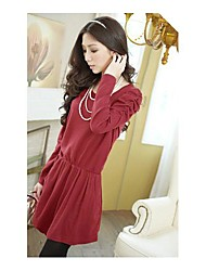 Women's Bubble Sleeves Bowknot Fitted Dress