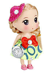 Donna Shape Doll Portachiavi Watch (Verde)