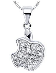 Venta caliente agraciada de Apple en forma de Slivery collar de la aleación con el Rhinestone (1 PC)