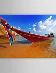 Натянутым холстом печати Искусство Пейзаж Таиланд Лодка
