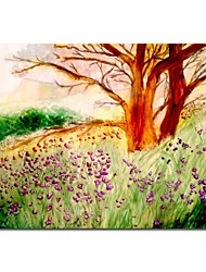 Hand Painted Oil Painting Landscape   Love of The Hawthorn Tree with Stretched Frame