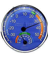 Hygrothermograph Thermometer Hygrometer Pointer Display Metal Frame Blue