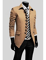 Men's Long Sleeve Jacket , Tweed Casual