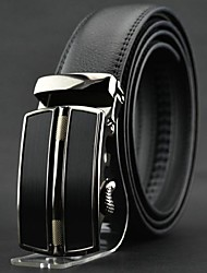 Men's  Genuine Cowskin Leather Buckle Belt