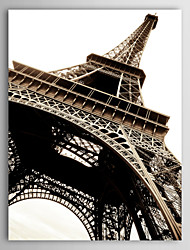 Stretched Canvas Print Art Landscape Bottom Part of The Eiffel Tower