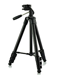 DSTE Total length 120cm DT02019 Retractable Tripod w/ Three-dimensional Head for Digital Camera / Camcorder - Black