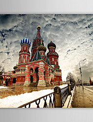 Stretched Canvas Print Art Landscape Famous Church of Our Savior on Spilled Blood, St. Petersburg