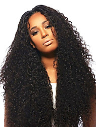 24Inch Brazilian Remy Hair Afro Kinky Curly Middle Part Lace Front Wig