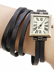Women's Vintage Rectangle Dial Pu Band Quartz Analog Bracelet Watch (Assorted Colors) Cool Watches Unique Watches