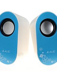 Music-M-23  High Quality Stereo USB 2.0Multimedia Speaker  (Blue+White)