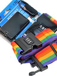 Outdoor Rainbow Style Coded Lock Black
