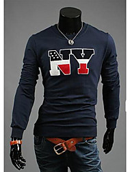 Men's Cultivate One's Morality Round Neck Long Sleeve T-shirt