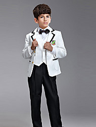 Polester/Cotton Blend Ring Bearer Suit - 6 Pieces Includes  Jacket / Shirt / Vest / Pants / Bow Tie / Suspenders