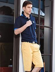homem shorts de algodão doce cor