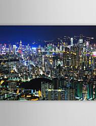 Stampa trasferimenti su tela di arte di paesaggio di Hong Kong City View