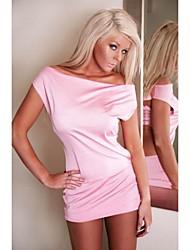 Vestido das mulheres Recurso Lingerie rosa