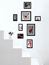 Black Photo Wall Frame Collection Set of 8