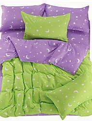 Yisiqiu Green Tabby Velvet 4 Pcs Set