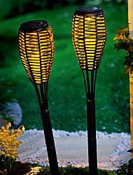 Set mit 2 Solar-LED-Rattan-Candle-Light-Garten Rasen-Lampe Stake (CSS-57297)