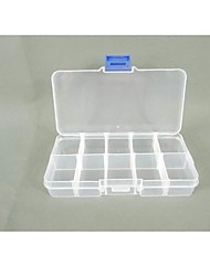 Plastic 10 Compartments Transparent  Storage Case