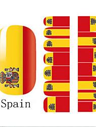 2x14PCS Espagne Coupe du Monde Motif Nail Art Stickers