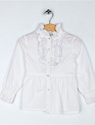 I.L.S Stand Collar Long Sleeve Shirt(White)