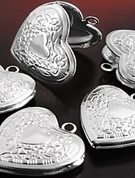 Pendant Necklaces Pendants Silver Plated Heart Flower Heart Carved Jewelry Party Thank You Daily Casual Valentine