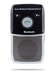 Solar betriebene Wireless-Bluetooth-Freisprecheinrichtung Car Kit Freisprecheinrichtung für iPhone HTC Samsung