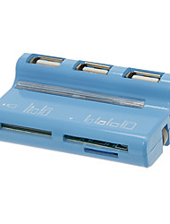 Mini-All-in-1 Memory Card Reader / Writer (Rosa / Blau)
