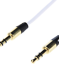 3,5 mm plaqué or Jack Audio Connection Cable (1.0m Blanc)