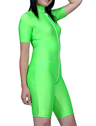 Energetic Style Unisex Apple Green Lycra Catsuit