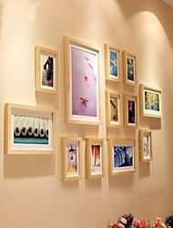 Natural Color Photo Frame Collection Set of 12