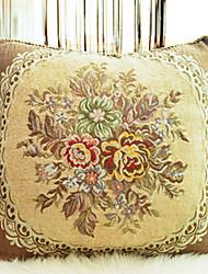 Terciopelo Cojín con Relleno , Floral Campestre
