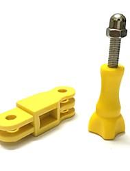 Ligue Paralela Cor plástico redondo eixo de articulação Adaptador de montagem com parafuso longo para GoPro Hero 3 + / 3/2
