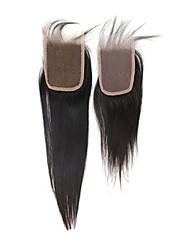 """18"""" Brazilian Hair Silky Straight Lace Top Closure(3.5""""*4"""") Natural Color"""