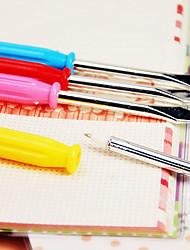 Multifunction Screwdriver Blue Ink Ballpoint Pens(1 Pen)