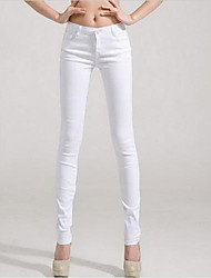 Women's Solide Color Skinny Pants