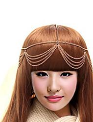 MISS U Frauen eleganter Multilayer-Tassel Gold-Kopftücher