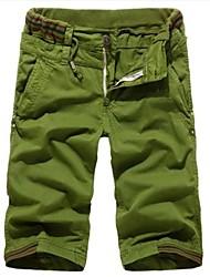 Мужская мода повседневные брюки Грузовой семь целых