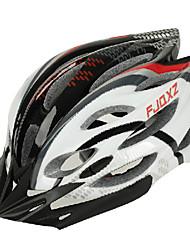 FJQXZ Unisex Outdoor PC + EPS 22 Vents Preto + Vermelho Ciclismo Hlemets