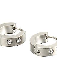 Boucles d'oreille goujon Acier inoxydable Strass Acier au titane Imitation de diamant Mode Bijoux Soirée Quotidien Décontracté
