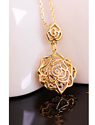 SiYue Flower Shape Rose Gold Platinum Plated Necklace