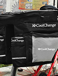 CoolChange Black Nylon Cycling Carriage Bag With Rain Cover