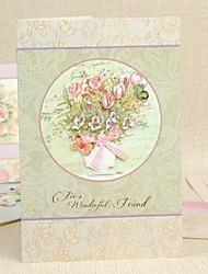 """For Wonderful Friend"" Florla Vertical Greeting Card"