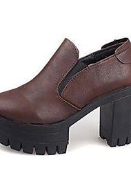 Leatherette Women's Chunky Heel Platform Pumps/Heels Shoes (More Colors)
