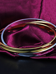 High Quality Delicate Gold-Plated With Silver-Plated Locked Bracelets