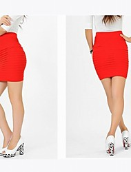 Fashion Crinkle Surrounded Hip Skirt