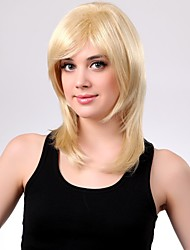 Long High Quality Synthetic Staight  Blonde Hair Wig