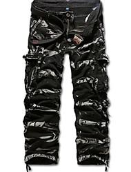 Extérieur Pantalons simple mode de lavage Cottan outillage pour hommes (ceinture non inclus)